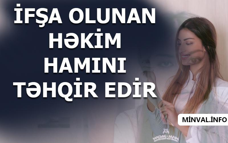 """Kosmetoloq Elnarə Rzayevadan əxlaqsız sözlər – """"Sənin ağzını…"""""""