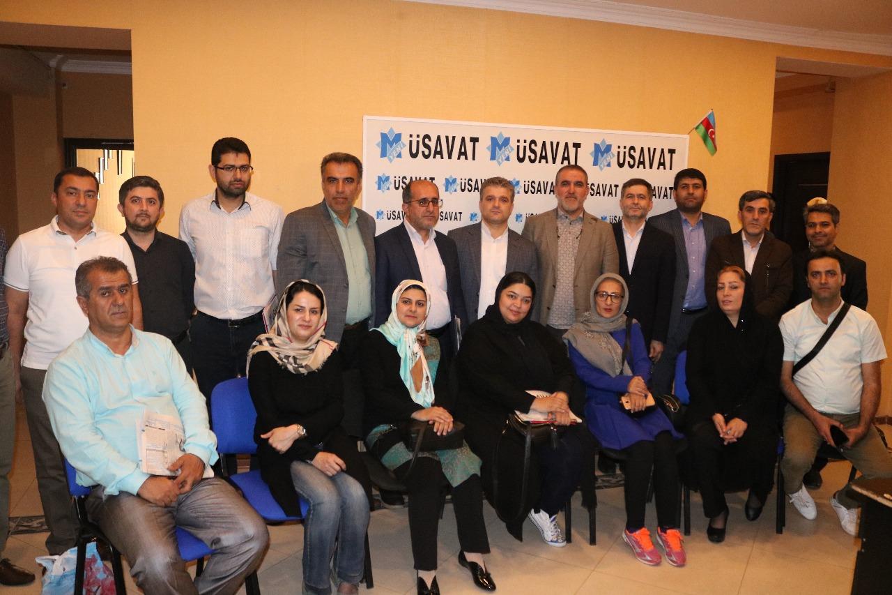 """İrandan gələn qəzetçilər """"Yeni Müsavat""""da"""