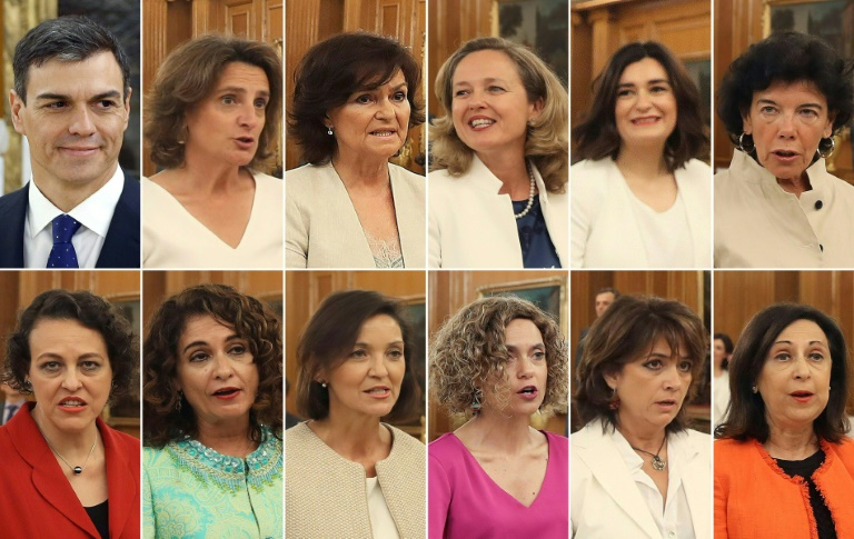 Image result for spain woman ministers