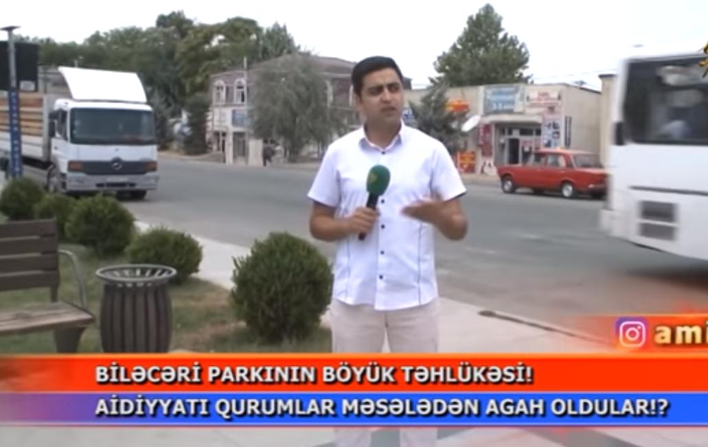 Biləcəri bələdiyyəsinin təhlükəli parkı – VİDEO