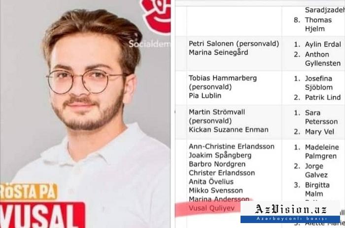 20 yaşlı azərbaycanlı tələbə İsveçdə deputat seçildi – FOTO