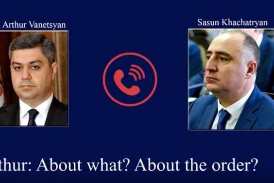 Ermənistanda skandal hadisə: İki məmurun telefon danışıqları yayıldı – VİDEO