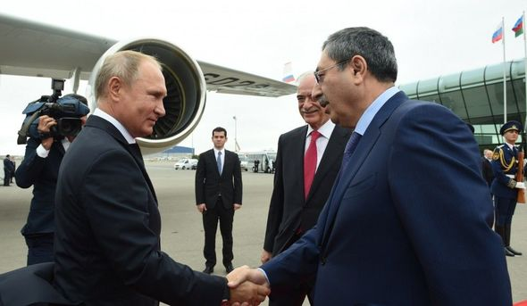Vladimir Putin Azərbaycandadır – FOTO