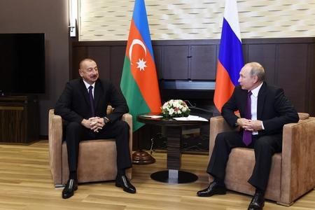 Prezident İlham Əliyev və Prezident Putinlə görüşdü