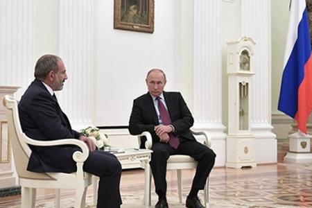 """Paşinyan Putinə belə deyib: """"Təmas xəttində istənilən təxribat sərt cavab a ..."""