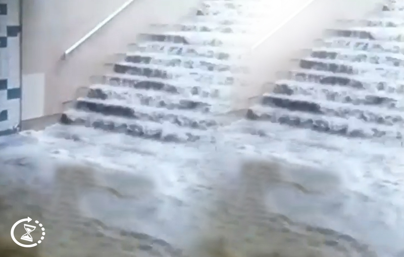 Bakı metrosunu su basdı – dəhşətli görüntülər – VİDEO