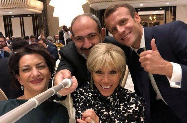 Fransa prezidenti Yerevanda Azərbaycan mahnısına oynadı - VİDEO
