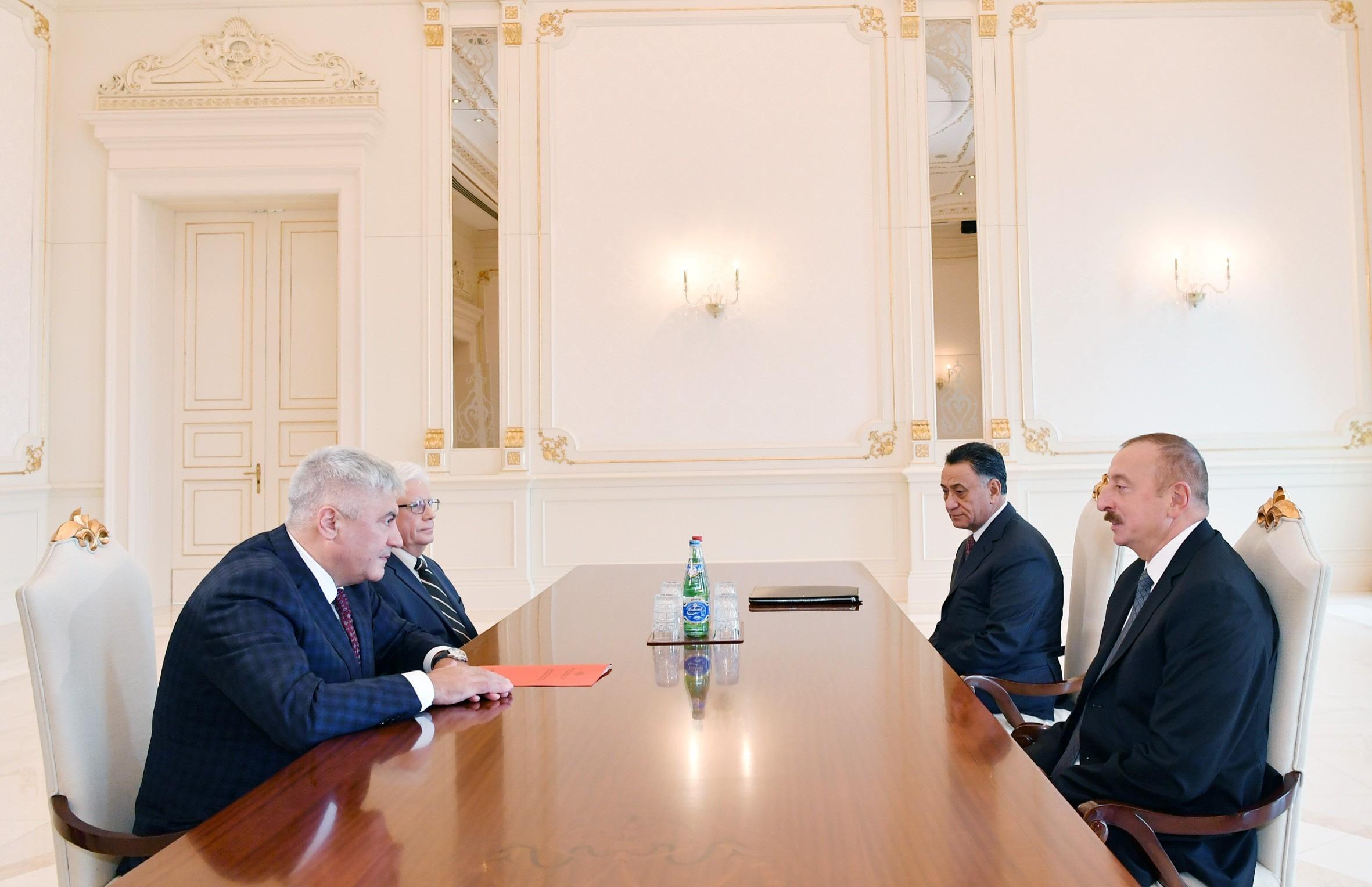 İlham Əliyev rusiyalı naziri qəbul etdi