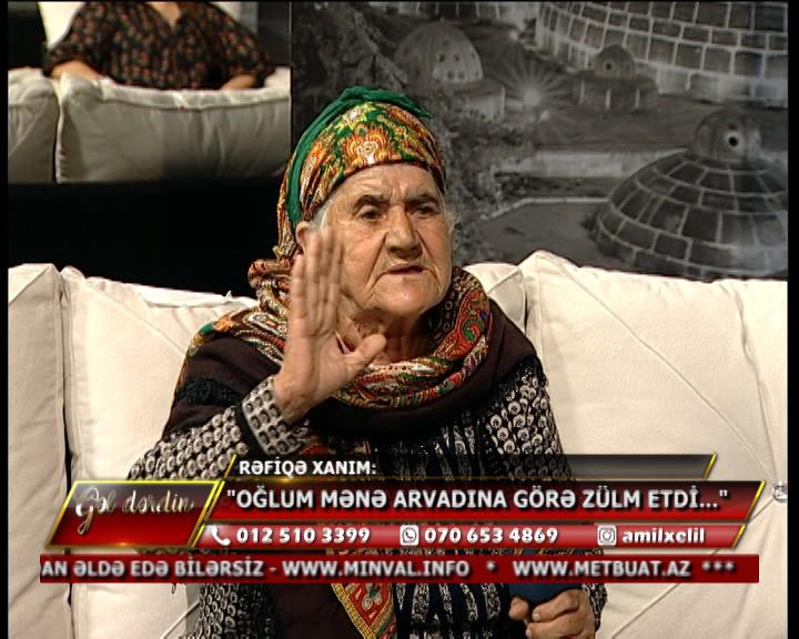 """Keçmiş deputat qadın efirə çıxdı və oğlunu biabır etdi: """"Arvadı ilə…"""""""