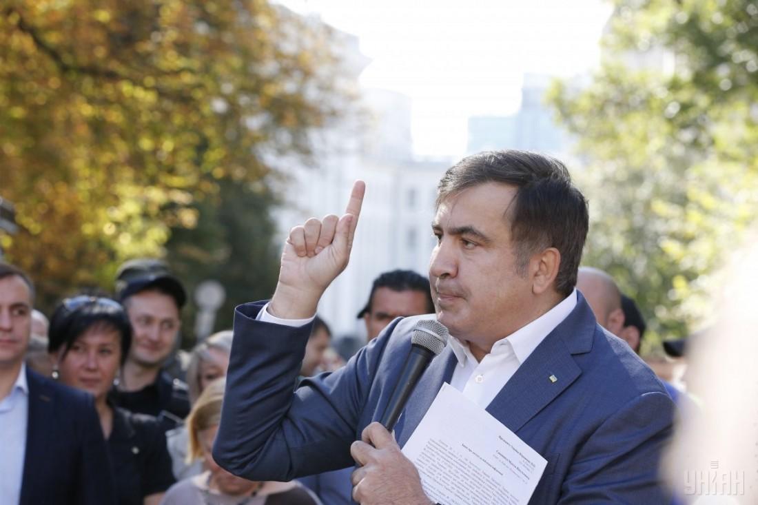 Tiflisdə Mixail Saakaşvilinin əleyhinə kütləvi aksiya keçirilib