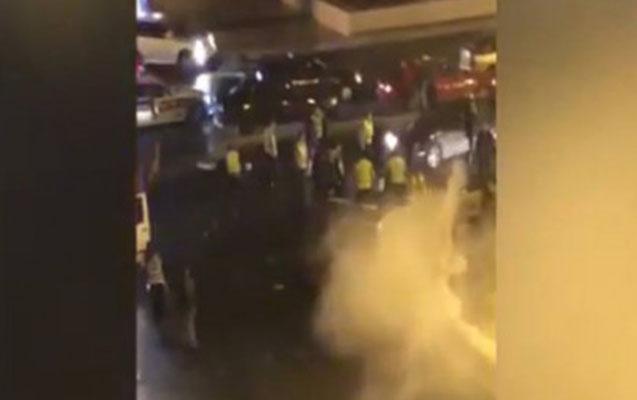 Bakıda DYP maşını ilə taksi toqquşdu – Polis yaralandı (Video)