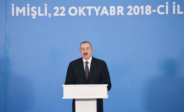 """""""Ölkəmizdə qazlaşdırmanın səviyyəsi 95 faizə çatır"""" — İlham Əliyev"""