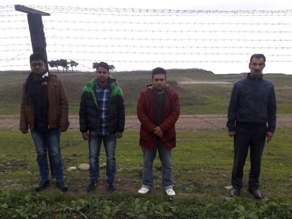 Sərhədi pozan 3 əcnəbi və onlara kömək edən azərbaycanlı saxlanıldı