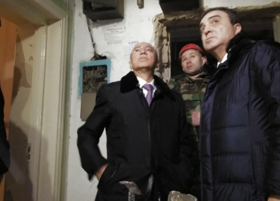 Nazir partlayış baş verən binada – Fotolar