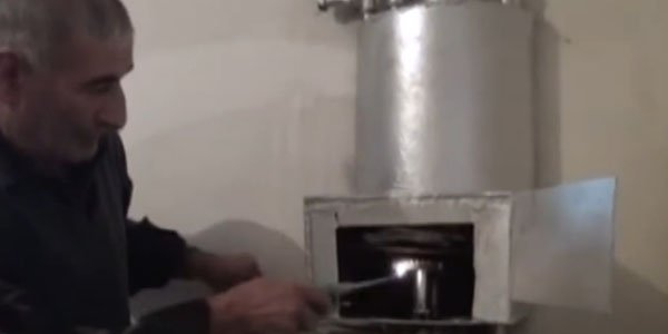 Zərdab sakini qənaətcil kombi hazırlayıb (VİDEO)