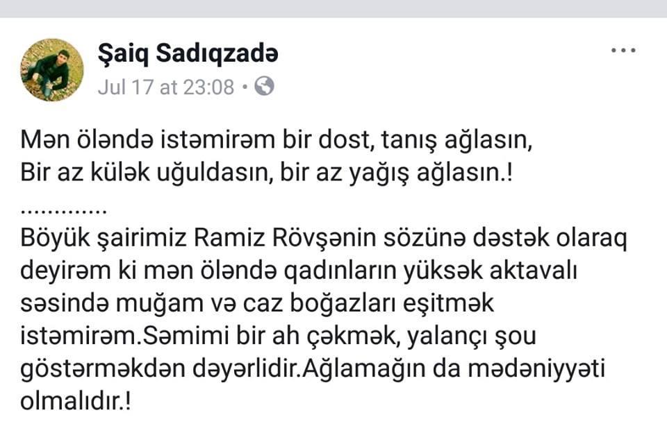 Azərbaycanda gənc müəllim intihar etdi – FOTOLAR