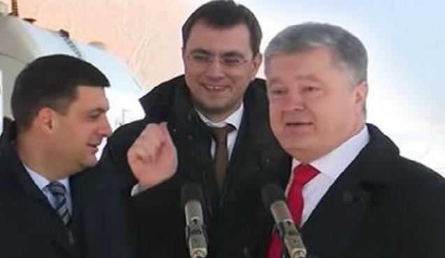 Poroşenko açılışa sərxoş qatılıb? – Çıxışına baş nazir də güldü – VİDEO