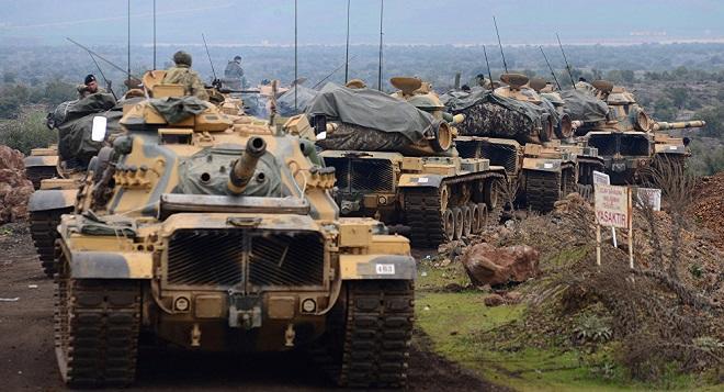 Türkiyə hərbi texnikalarını Suriyaya yeritdi