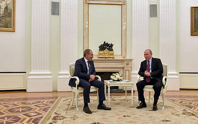 Paşinyan Putini Ermənistana dəvət etdi