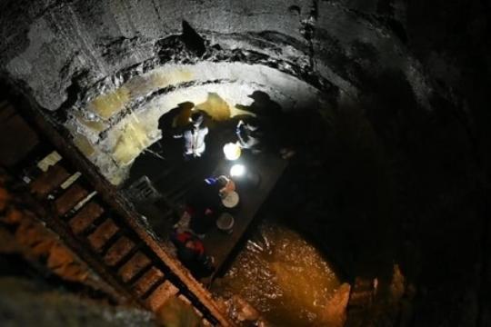 """Nobel"""" prospektinin çökmüş hissəsi: 30 metr dərinlikdən görüntülər – Video"""