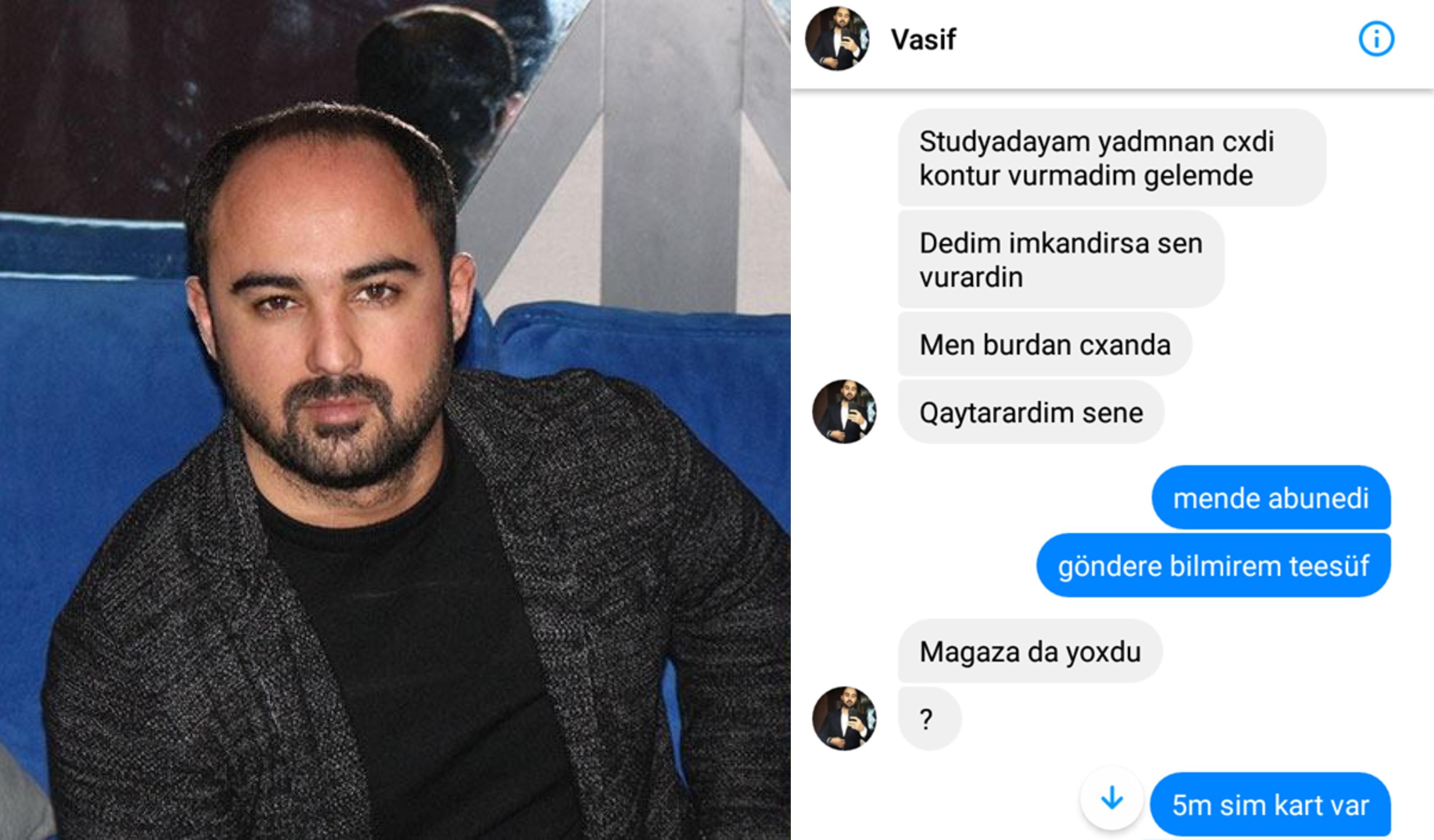 """Vasif Əzimov xanımlara """"podxod"""" edib, kontur istəyib? – FOTOLAR"""