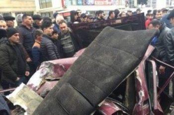 Bakıda avtobus dəhşətli qəza törətdi – Video