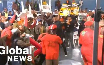 Canlı efirdə deputatlar stulla davaya çıxdılar – Video