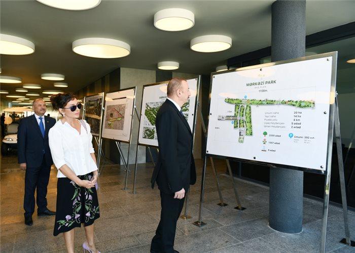 Prezidentlə xanımı Mərkəzi Parkın açılışını etdi – Fotolar