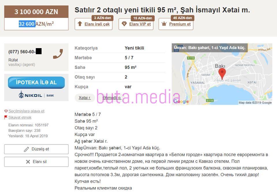 Bakıda fantastik qiymətə iki otaqlı ev – Fotolar
