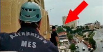 Bakıda intihar etmək istəyən gənc belə xilas edildi – Video