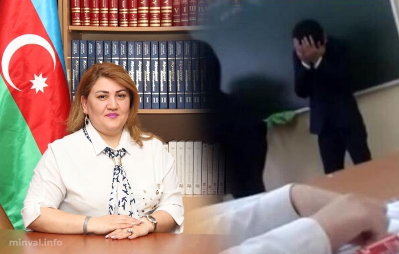 Bakıda müəllimə şagirdi döyüb, videoya çəkdi – Həmin görüntülər (VİDEO)