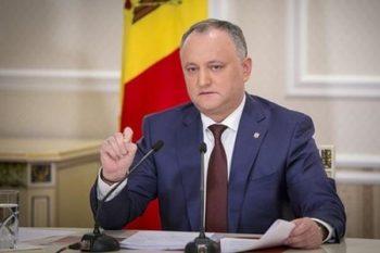 Moldova prezidenti ölkədəki siyasi böhranla bağlı beynəlxalq ictimaiyyətə müraciət edib