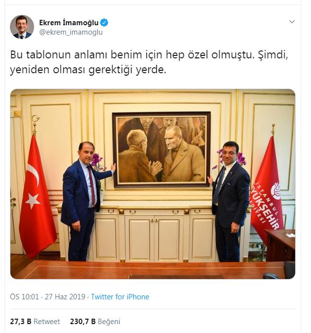 Əkrəm İmamoğlunun ilk addımı Atatürklə bağlı oldu – FOTO