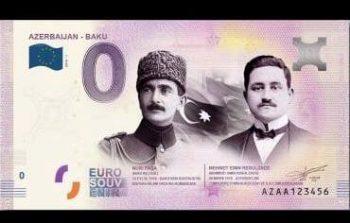Avropa Mərkəzi Bankı Rəsulzadənin şəkli olan evro pul nişanı buraxdı