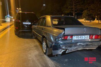 Bakının Yasamal rayonunda 3 avtomobil toqquşub