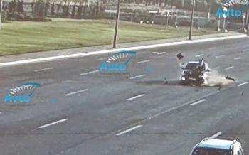 Bakıda dəhşətli qəza: Sürücü süpürgəçini vurub öldürdü, şoka düşdü – VİDEO