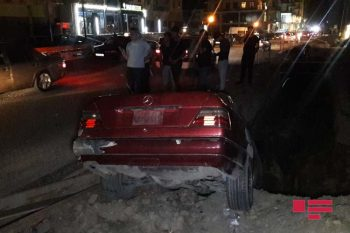 Xırdalanda təmir işləri qəzaya səbəb oldu – FOTO – VİDEO