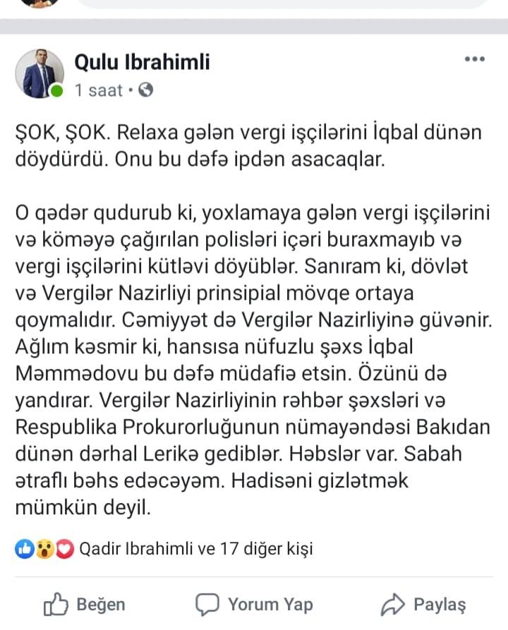 Deputat İqbal Məmmədovla bağlı heyrətamiz və şok iddialar
