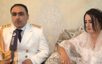Aprel döyüşlərinin iştirakçısı evləndi – Video