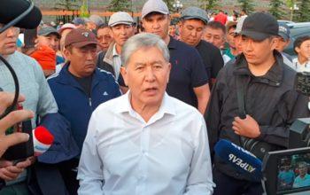 Atambayev xalqa atəş açmamağı tələb etdi – Video