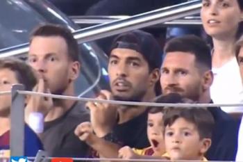 """Messinin oğlu """"Barselona""""nın buraxdığı qola sevindi – Video"""