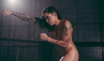 Qadın UFC döyüşçüsü çılpaq məşq etdi – FOTOLAR