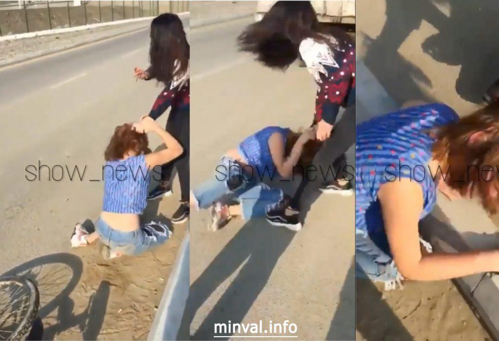 Bakıda qadın ərinin məşuqəsini döyüb videosunu çəkdi – ŞOK VİDEO 18+