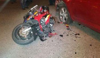 """Metronun """"Koroğlu"""" stansiyası yaxınlığında maşın 17 yaşlı motosikletçini vu ..."""