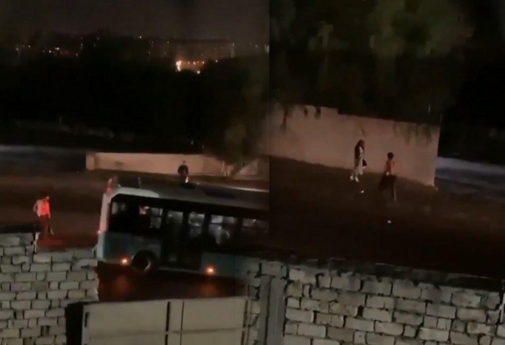 Bakıda yarıçılpaq kişi qadınlara hücum çəkdi – ŞOK VİDEO