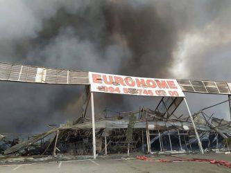 """EuroHome""dakı yanğın söndürüldü"