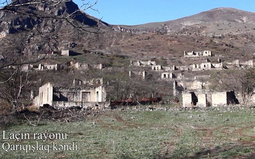Laçının Qarıqışlaq kəndinin görüntüləri